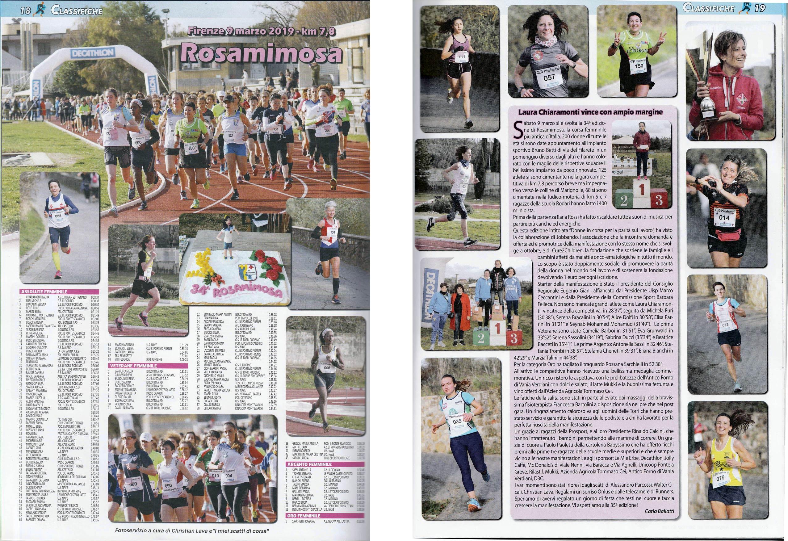 Runners e Benessere, numero di Maggio 2019